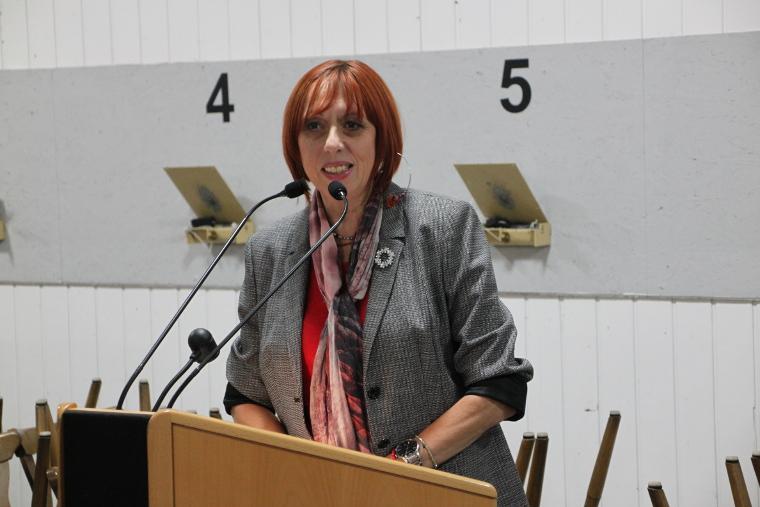 Landtagskandidatin Jutta Deiml aus Kemnath bei ihrer Ansprache
