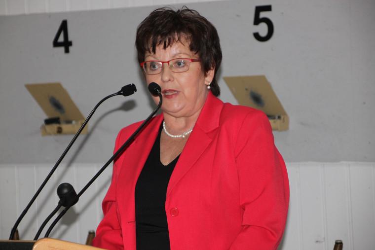 Bezirkstagskandidatin Brigitte Scharf